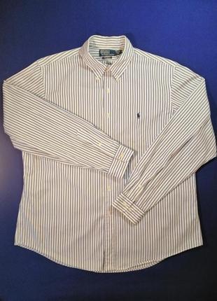 Рубашка polo ralph lauren в полоску с длинным рукавом
