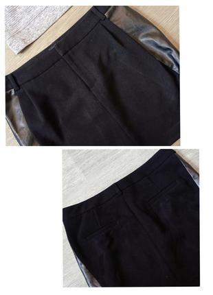 Прямая юбка с кожаными вставками limited collection