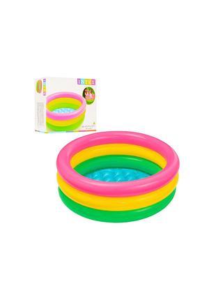 Детский надувной басейн Радуга ( 57107)