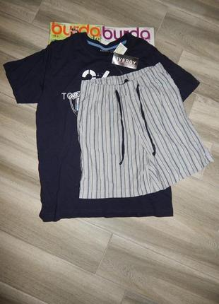Мужская пижама домашний костюм livergy