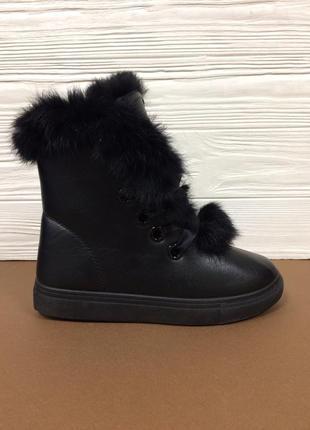 Женские зимние ботинки с опушкой кролика ! распродажа последни...