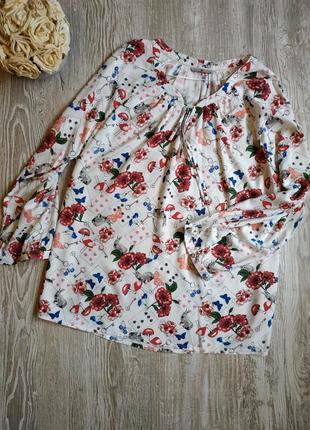 Блузка из вискозы tu алиса в стране чудес размер 20-22