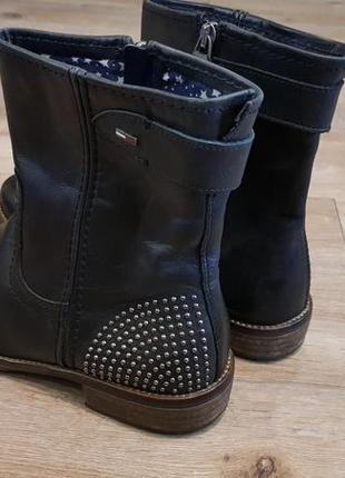 Стильные демисезонные кожаные ботинки tommy hilfiger, оригинал