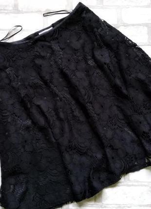 Кружевная гипюровая юбка р.14