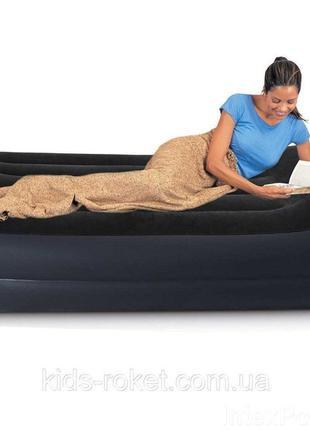 Надувная односпальная кровать Intex 64122, 99х191х42 см, встро...