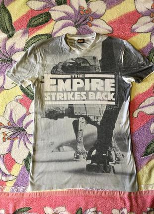 Футболка star wars белая empire strikes back
