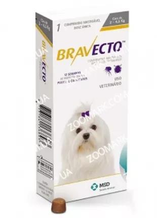 Таблетка Бравекто (Bravecto) для собак 2-4.5 кг