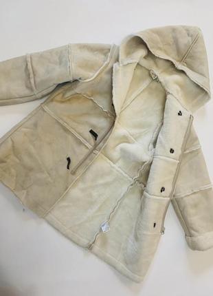 Искусственная дубленка куртка на девочку 5-6 лет