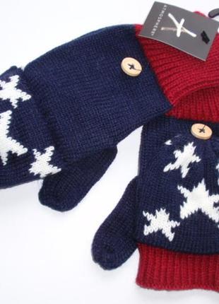 Варежки трансформеры рукавицы с открытыми пальцами atmosphere ...