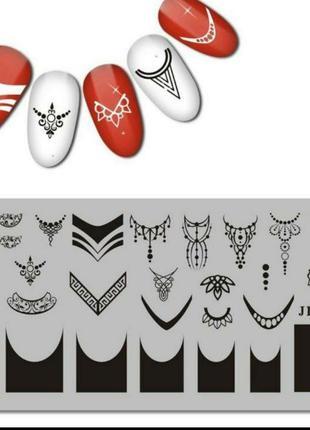 Пластина для стемпинга ногтей маникюра дизайна для стемпінгу н...