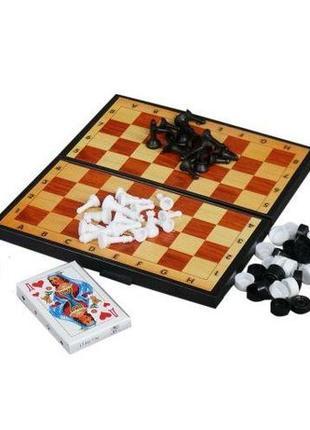 Набор 3 в 1 шашки/шахматы/нарды/карты