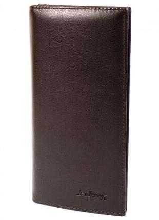 Мужское портмоне baellerry на магните коричневый