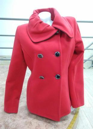 """Базовое шикарное кашемировое красное пальто """"armoda"""""""