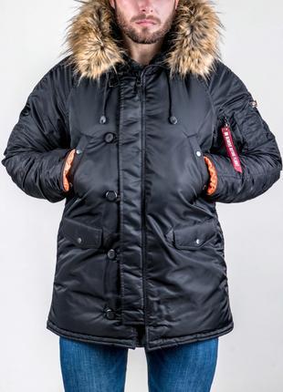 Зимова Аляска N-3B Olymp 2018 — Slim Fit, Black