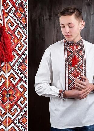 Вишиванка вышиванка сорочка с вышивкой подростковая 16 лет