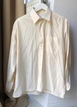 Рубашка светло лимонного цвета
