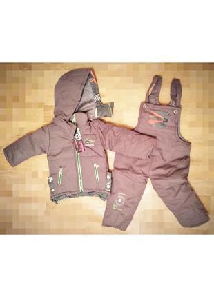 Зимний теплый комбинезон мальчику 1-2 года