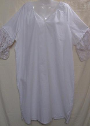 Ночная  женская сорочка, рубашка, 52р-р. хлопок. дешево