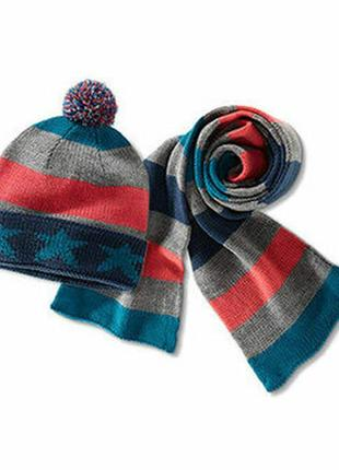 Детский комплект шапка-шарф от tchibo, с ярлыками