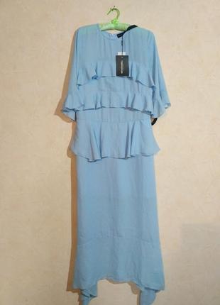 Шифоновое вечернее  длинное платье
