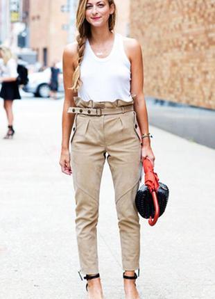 Шикарные брючки из 100 %  кожи/брюки кожаные/брюки/штаны/джинсы