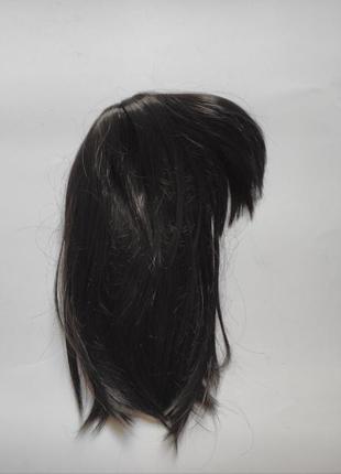Черный парик каре с челкой обьемной широкой короткие волосы бр...