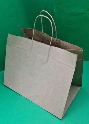 Пакет с ручками бумажный 22*29*19 бурый №34 (25 шт)