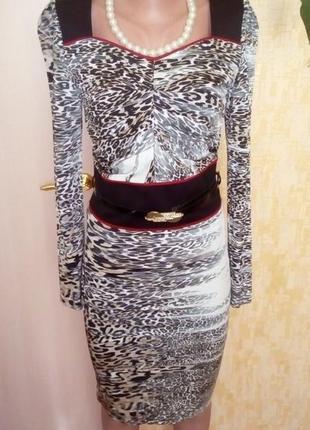 Нарядное фирменное платье с поясом/ красивое платье/ платье/са...
