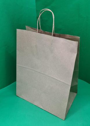 Пакет с ручками бумажный 35*29*19 бурый №35 (25 шт)