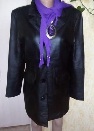 Стильный тренч из 100 % кожи / кожаная куртка/ кардиган /плащ....