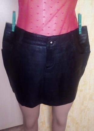 Индия!отличная юбка из натуральной кожи /юбка кожаная/юбка/кож...