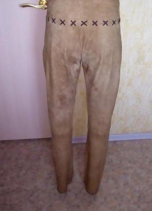 Отличные брюки из натуральной мягчайшей замши/кожаные брюки/бр...