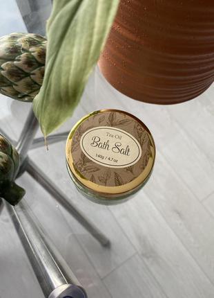 Соль косметическая для ванны чайное дерево