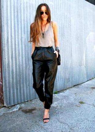 Шикарные брючки из натуральной кожи /брюки кожаные /брюки /штаны