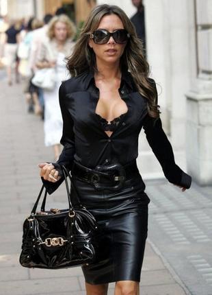 Стильная юбка из 100 % мягенькой кожи ягнёнка/юбка/кожаная юбка
