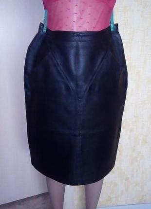 Стильная юбка из 100 % кожи /юбка/кожаная юбка
