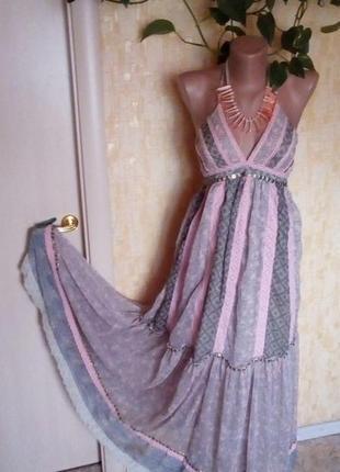 Англия!воздушное красивое платье/сарафан/платье длинное