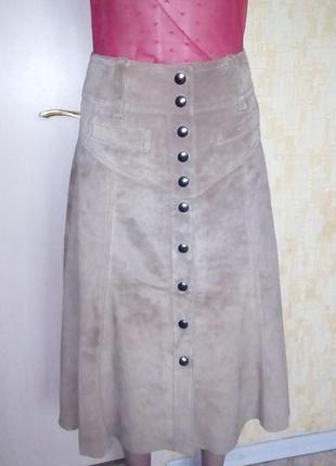 Шикарная юбка из 100% бархатистой кожи/юбка/кожаная юбка
