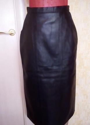 Роскошная юбка из натуральной кожи/кожаная юбка/юбка/юбка кара...