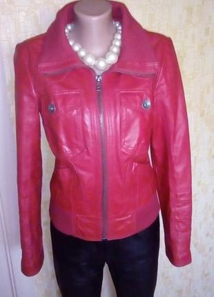 Крутая 100 % кожаная куртка бомбер/жакет/пиджак/кожаная куртка...