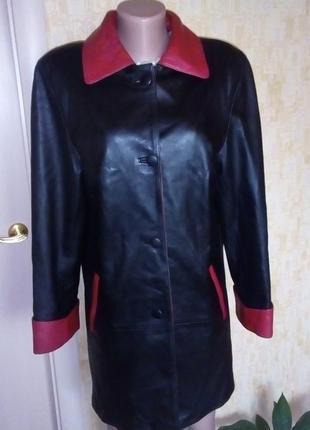 Vip! роскошный тренч из 100% кожи/ куртка/ кардиган /плащ/паль...