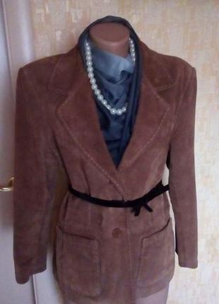 Красивая замшевая куртка/пиджак/ куртка/ кардиган /жакет/пальт...