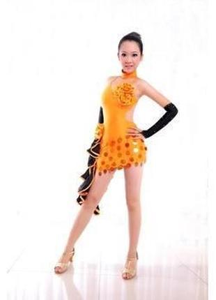 Перчатки детские длинные атлас через пальчик для танцев бальные
