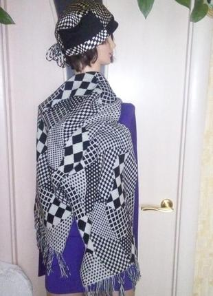 Набор геометрия шапка + шарф/шапка/кепка/шарф/палантин/набор