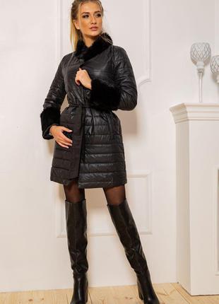 Пальто женское 131R125489 цвет Черный