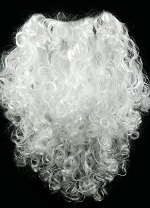 Борода Деда Мороза 50см большая