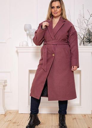Пальто женское115R4171 цвет Сливовый