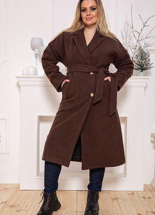 Пальто женское115R4171 цвет Коричневый