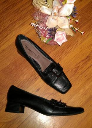 Кожаные туфли 40р tamaris