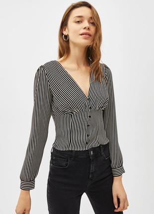 Блузка корсет в полоску